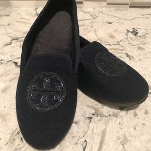 Tory Burch Navy Loafers